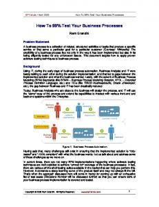 How To 99% Test Your Business Processes