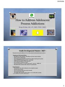 How to Address Adolescent Process Addictions