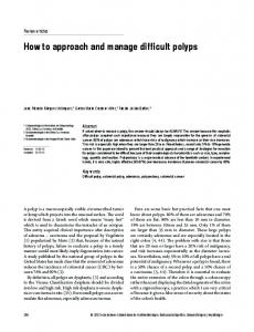 How to approach and manage difficult polyps