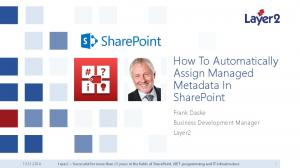 How To Automatically Assign Managed Metadata In SharePoint