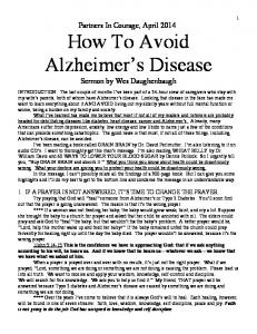 How To Avoid Alzheimer s Disease