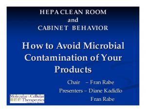 How to Avoid Microbial Contamination of Your Products