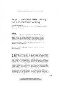 how to avoid the seven deadly sins of academic writing