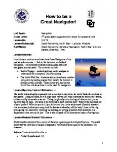 How to be a Great Navigator!