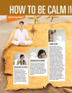 HOW TO BE CALM IN TAKING ACTION