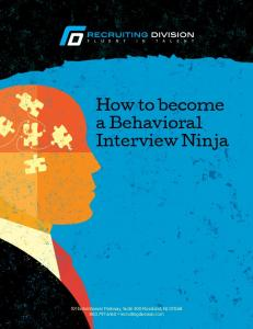 How to become a Behavioral Interview Ninja