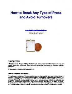 How to Break Any Type of Press and Avoid Turnovers