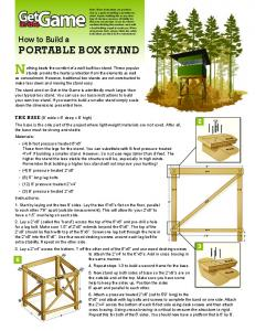 How to Build a PORTABLE BOX STAND