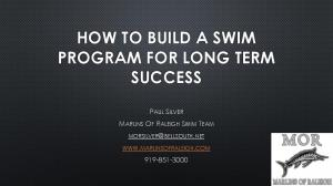 HOW TO BUILD A SWIM PROGRAM FOR LONG TERM SUCCESS
