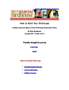 How to Build Your Birdhouse