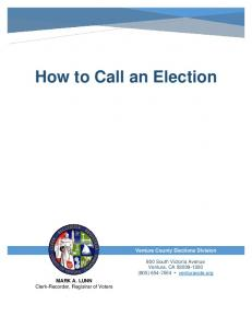 How to Call an Election