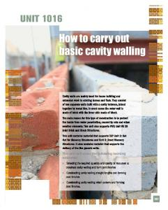 How to carry out basic cavity walling