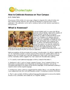 How to Celebrate Kwanzaa on Your Campus