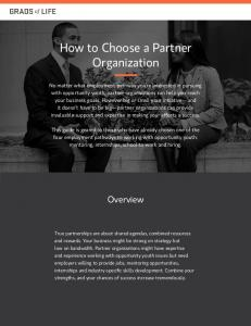 How to Choose a Partner Organization