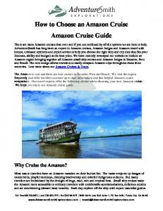How to Choose an Amazon Cruise Amazon Cruise Guide