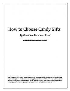 How to Choose Candy Gifts