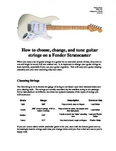 How to choose, change, and tune guitar strings on a Fender Stratocaster