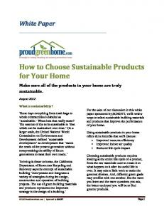 How to Choose Sustainable Products for Your Home