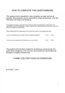 HOW TO COMPLETE THIS QUESTIONNAIRE