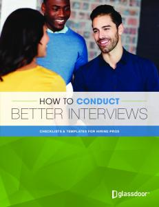 HOW TO CONDUCT BETTER INTERVIEWS CHECKLISTS & TEMPLATES FOR HIRING PROS