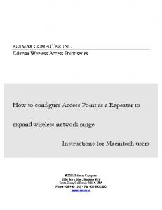 How to configure Access Point as a Repeater to