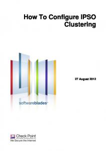 How To Configure IPSO Clustering