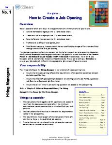 How to Create a Job Opening
