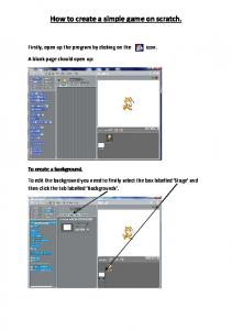 How to create a simple game on scratch
