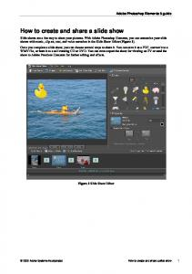 How to create and share a slide show