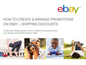 HOW TO CREATE & MANAGE PROMOTIONS ON EBAY SHIPPING DISCOUNTS