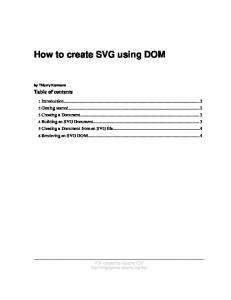 How to create SVG using DOM