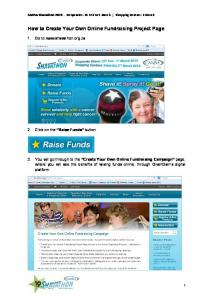 How to Create Your Own Online Fundraising Project Page