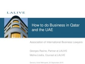 How to do Business in Qatar and the UAE