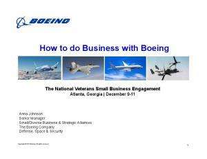 How to do Business with Boeing