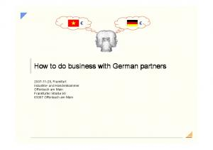 How to do business with German partners