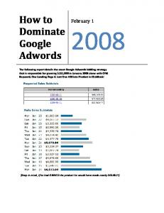How to Dominate Google Adwords