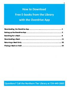 How to Download Free E-books from the Library with the Overdrive App