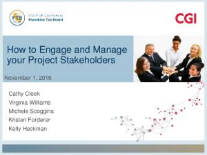 How to Engage and Manage your Project Stakeholders