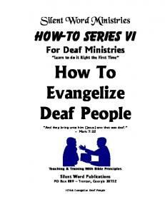 How To Evangelize Deaf People