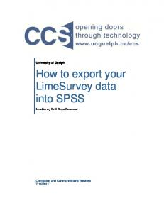 How to export your LimeSurvey data into SPSS