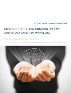 How to Find the Best Concussion Care and Rehabilitation in Minnesota: