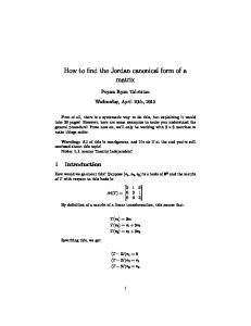 How to find the Jordan canonical form of a matrix