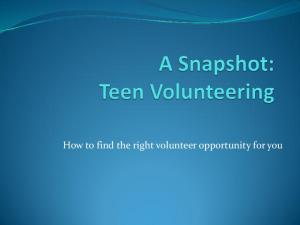 How to find the right volunteer opportunity for you