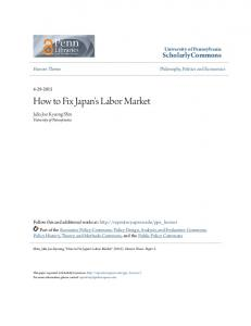 How to Fix Japan's Labor Market