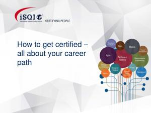 How to get certified all about your career path