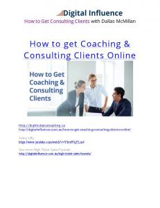 How to get Coaching & Consulting Clients Online