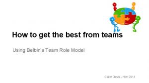 How to get the best from teams