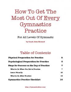 How To Get The Most Out Of Every Gymnastics Practice