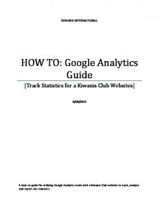 HOW TO: Google Analytics Guide