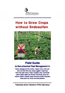 How to Grow Crops without Endosulfan